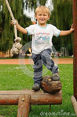 Child having fun on playground