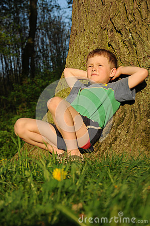 Child having relax