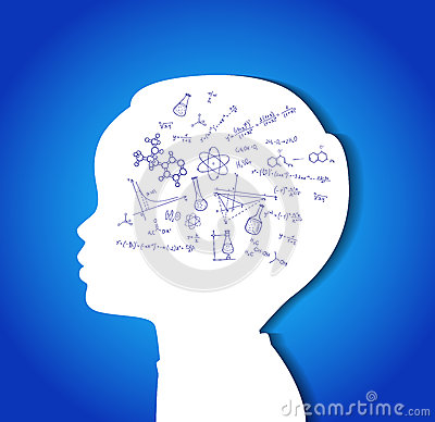 Free Child Head With Education Icons Stock Images - 39668254