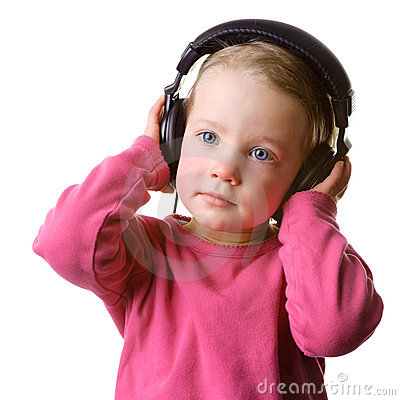 Child with headset