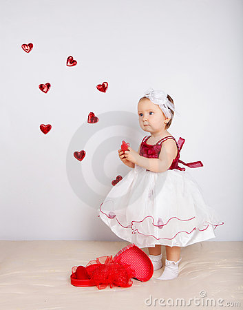 Child with hearts