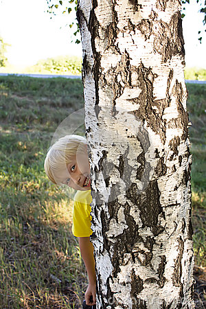 Child hid