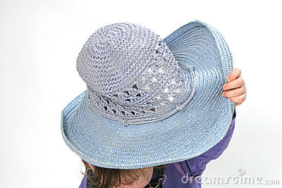 Child Hiding Under Hat Stock Photo - Image: 933350