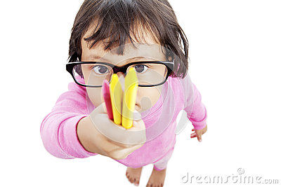 Child holding crayon