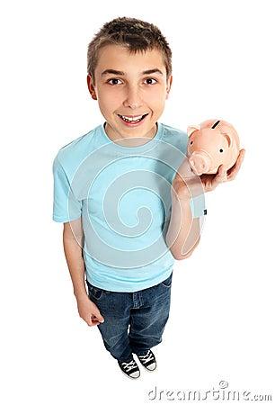 Child holding a money box