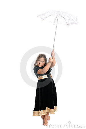 Child Holding Umbrella