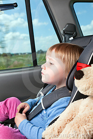 Free Child In Car Seat Royalty Free Stock Image - 14660336