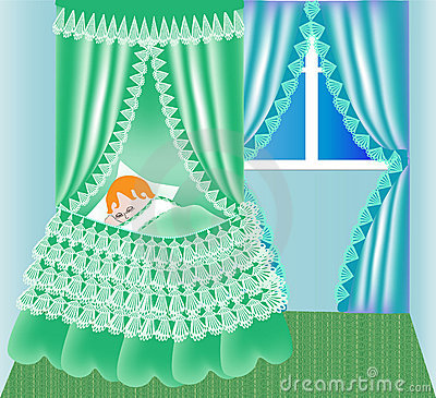 Free Child In Cribs Sleeps Royalty Free Stock Photos - 19855228