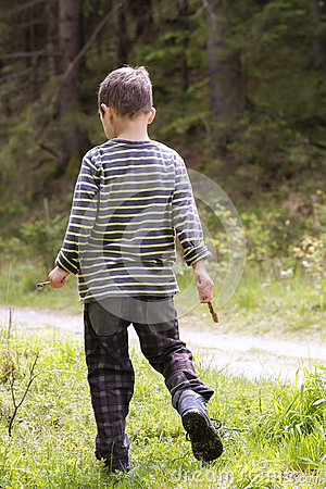 Free Child In Forest Stock Photography - 85172382