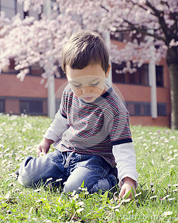 Free Child In Spring Park Stock Image - 39362291