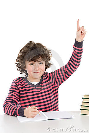 Free Child In The School Asking For The Floor Royalty Free Stock Images - 8191099
