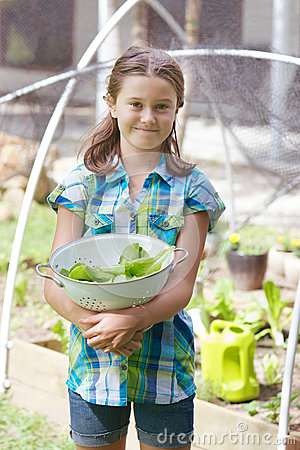 Free Child In Veggie Patch Royalty Free Stock Photo - 53050625