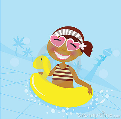 Free Child In Water Pool Stock Photography - 13954272