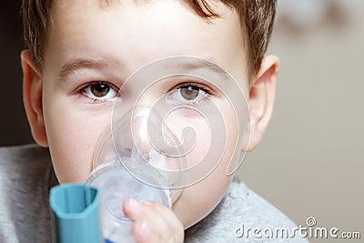 Child and inhaler