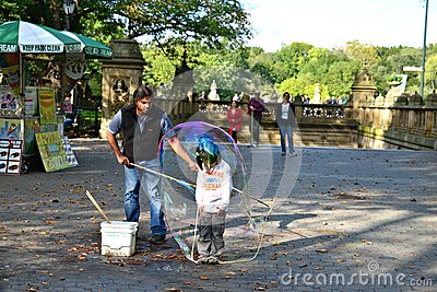 Child inside a water balloon Editorial Photo