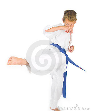 Child in karate