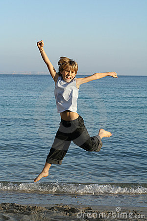Child Or Kid Jumping Stock Photography - Image: 501222