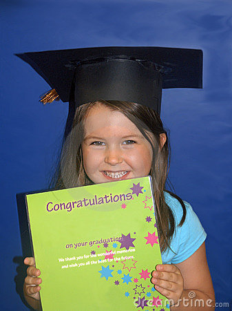 Child at kindergarten graduation
