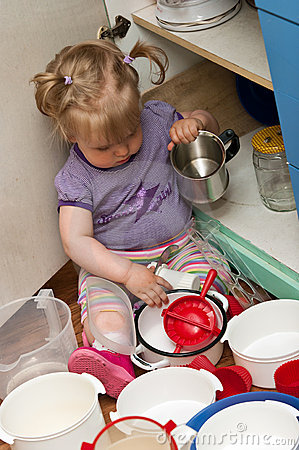 Child in kitchen