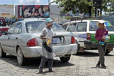 Child labor, street vendors in the city Santa Cruz Editorial Photography