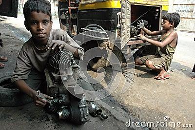 Child Labour In India. Editorial Stock Photo