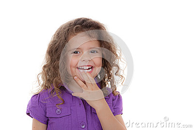 Child laughing,