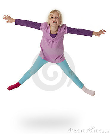 Child Leaping in Air