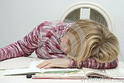 Child learns and sleep