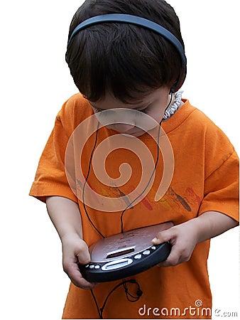 Free Child Listening To Music Stock Image - 122221