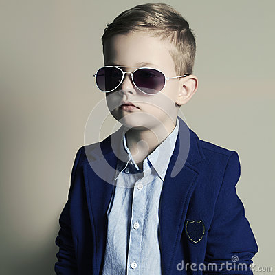 Free Child.little Boy In Sunglasses.stylish Kid Stock Photos - 52003203