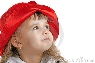 Child in Little Red Riding Hood portrait