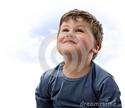 Child with look of hope