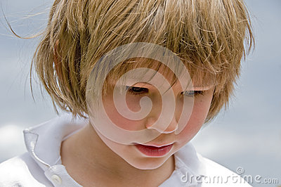 Child looking downwards