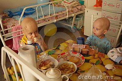 Child lunch in pediatric onco-department Editorial Photography