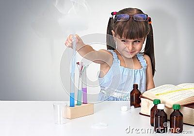 Child making sciencel test