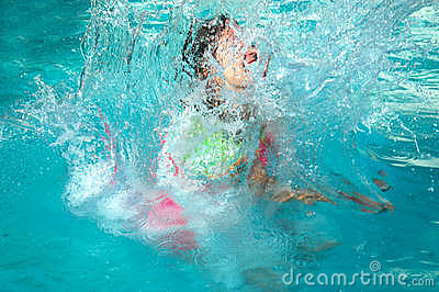 Child making a splash