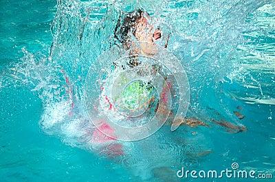 Child making a splash