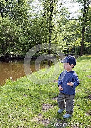 Child in nature park