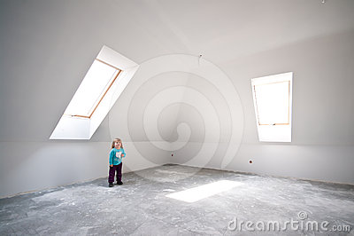 Child in new loft room