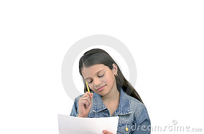 Child with notes
