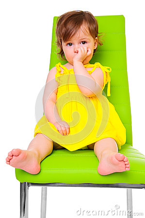 Free Child On Chair Stock Image - 24709921