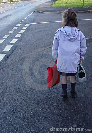 Free Child On Her Way To School. Royalty Free Stock Photography - 763107