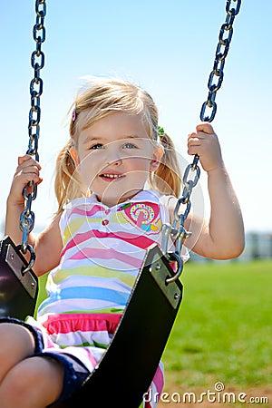 Free Child On Swing Stock Image - 17117221