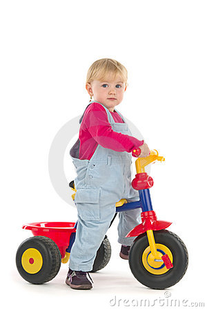 Free Child On Tricycle Royalty Free Stock Photography - 18638997
