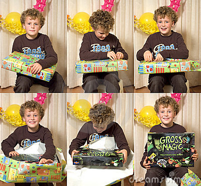 Child Opening Present