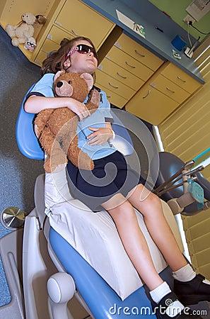 Child at the paediatric dentist