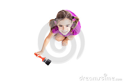 Child with a paint-brush