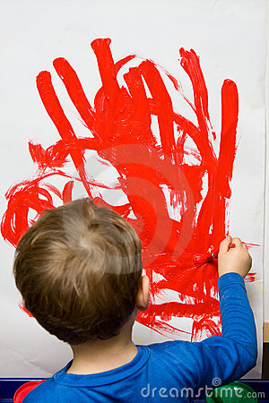 Free Child Painting Stock Photos - 12403143