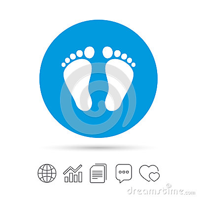 Free Child Pair Of Footprint Sign Icon. Barefoot . Royalty Free Stock Images - 90323099
