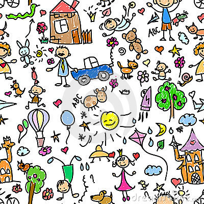 Child pattern seamless,vector
